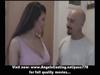 astounding sexy brunette bride sweet talking and