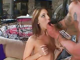 brandi acquires her chocolate hole reamed by an
