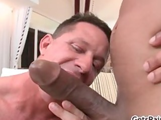 older muscle lad engulfing dark dong part4