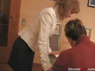 hawt german mom teaches guy