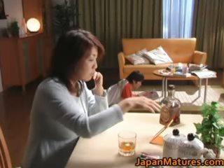 horny japanese mature sweethearts engulfing