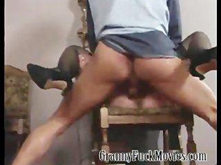 Extreme hardcore granny orgy scene