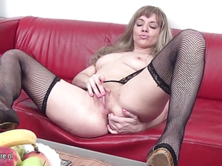 hawt mother and her soaked cum-hole