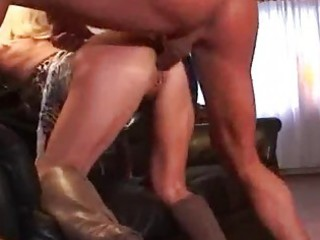 milf pierced blonde in boots getting drilled