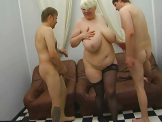 russian mature mother seducing younger in silk