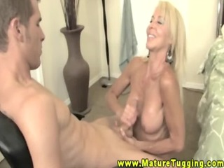 large tit aged golden-haired tit drilled and