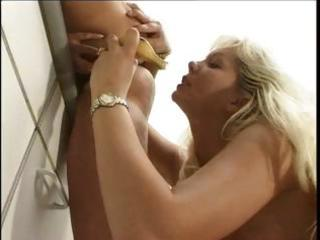 mamma joins son and girlfriend for three-some