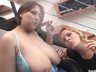 nadia and ally blow cock