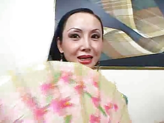 oriental mother i creamed on her large tits