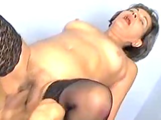 grey haired granny drilled