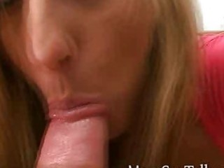 lewd golden-haired d like to fuck gives pov oral