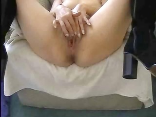 pov of girl using a weird sex toy to roughly fuck