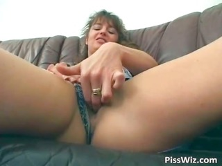 lustful brunette pisses and copulates her part3