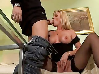 elsa blonde wife screwed by spouse ally