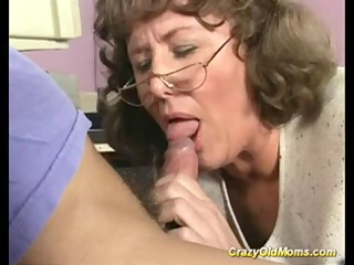 avid old mommy acquires deep pussy fuck and does