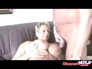 impure euro granny with glasses acquires screwed