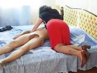Russian busty mature fucks younger man