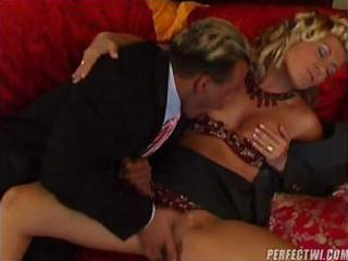 sexually excited milf with her lover and his