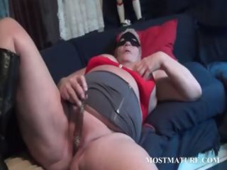 excited mama enchanting her older twat