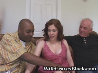 horny wife bonks black for hubby