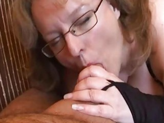 busty amateur wife tugjob and oral sex with cum