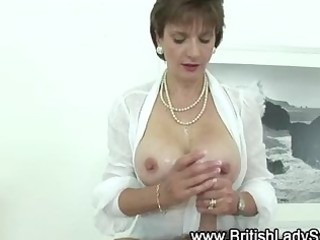 breasty slut acquires jizz flow