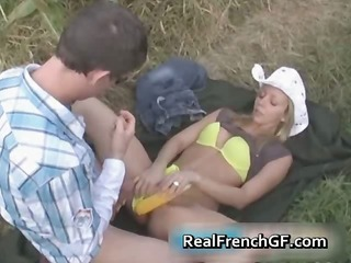 breasty teenage gf pussy banged in corn part1