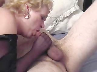 nasty auntie fannys nylon tugjob