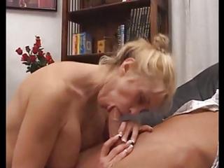 italian golden-haired mother