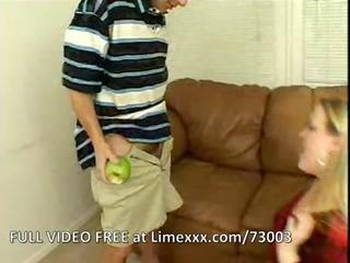 ramrod in an apple
