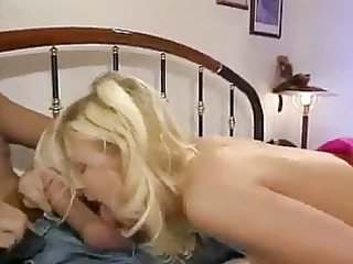 german golden-haired dp and facial