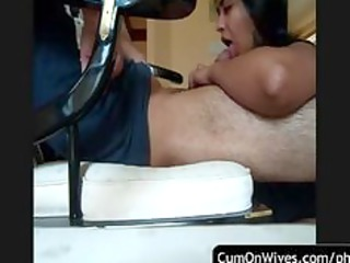 horny wife gives a great tugjob