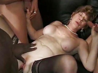 ancient granny group-fucked