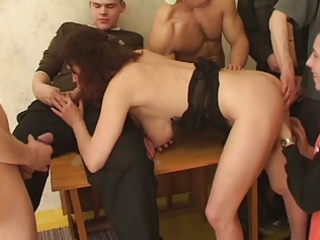 Sexy busty milf fuck by young boys