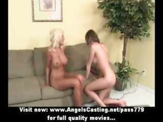 golden-haired mother i and cute lesbo paramour