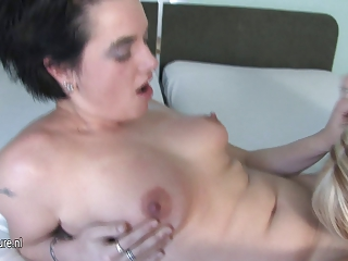 Blonde mature lesbian needs a younger pussy