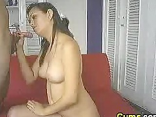 Swallowing his hot cum