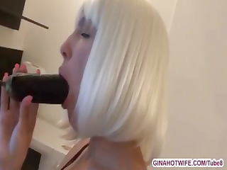 naughty platinum golden-haired is hungry for