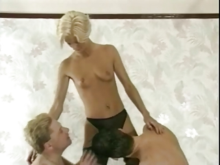 sharing golden-haired wife with friends-7