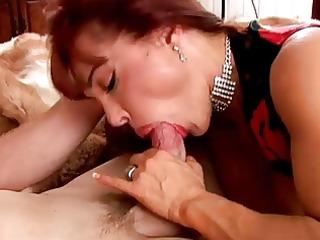 mature redhead in underware