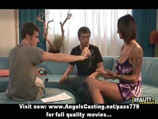 dark brown dilettante angel having bang sex