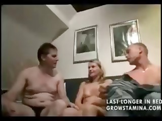 blond sucks on her mans pounder while she is
