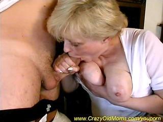 obscene old mom drilled