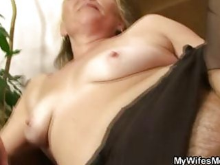 lustful granny opens shaggy pussy for hot