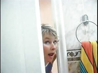 mama spying on son will he was in shower than she