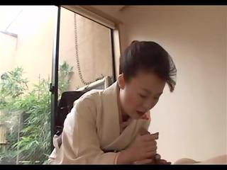 japanese mature gives full geisha treatment